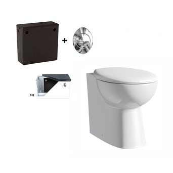 Simple Back To Wall Toilet Inc Seat and Concealed Cistern