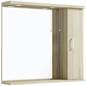 Eden oak illuminated mirror 850mm