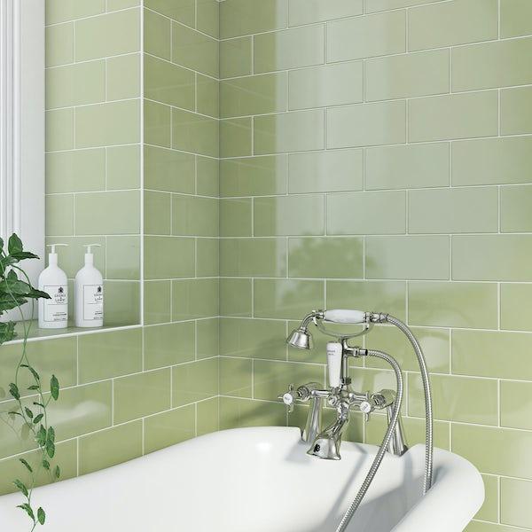 British Ceramic Tile Metro pistachio gloss 100mm x 200mm