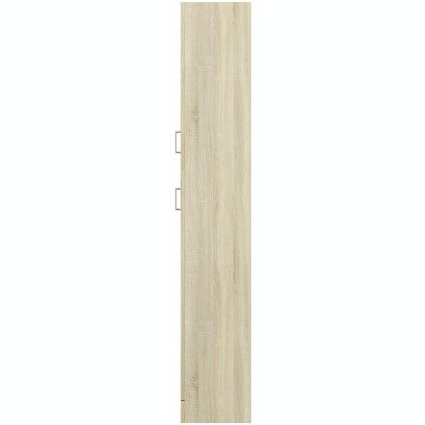 Eden oak tall storage unit 330mm