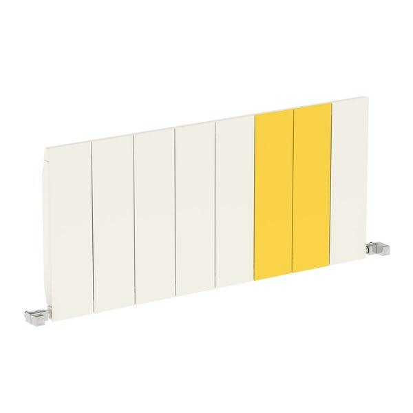 Neo soft white and zinc yellow horizontal radiator 545 x 1200