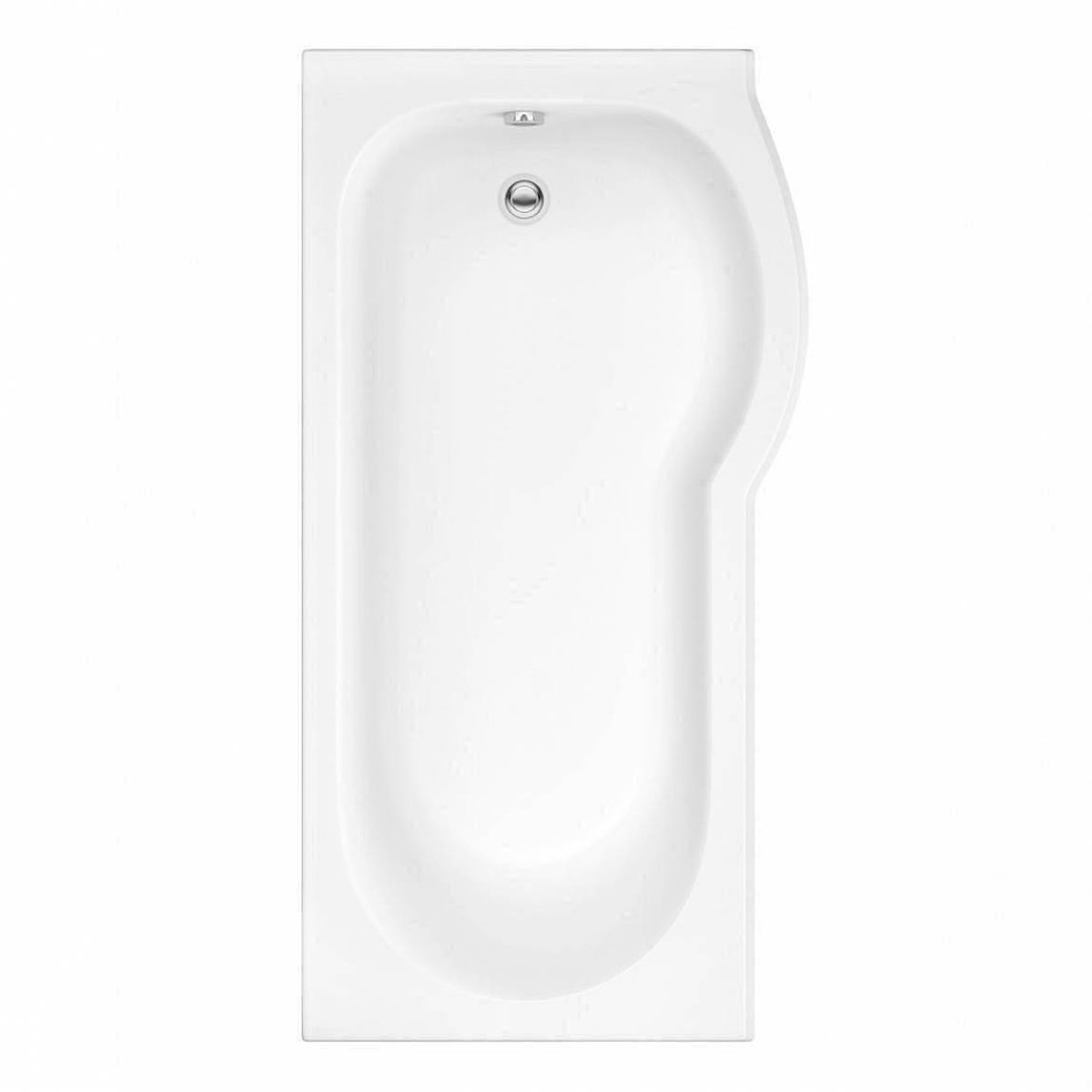 Evesham Right Handed P Shaped Shower Bath 1675mm With 5mm Screen