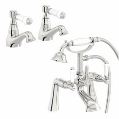 Antonio basin tap and bath shower mixer tap pack