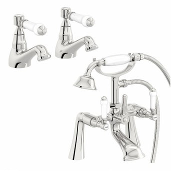 Antonio Basin Tap and Bath Shower Mixer Pack