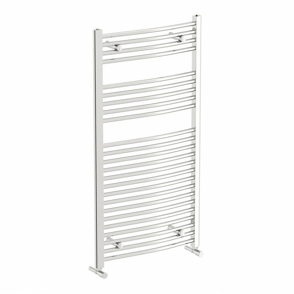 Curved Heated Towel Rail 1150 x 600