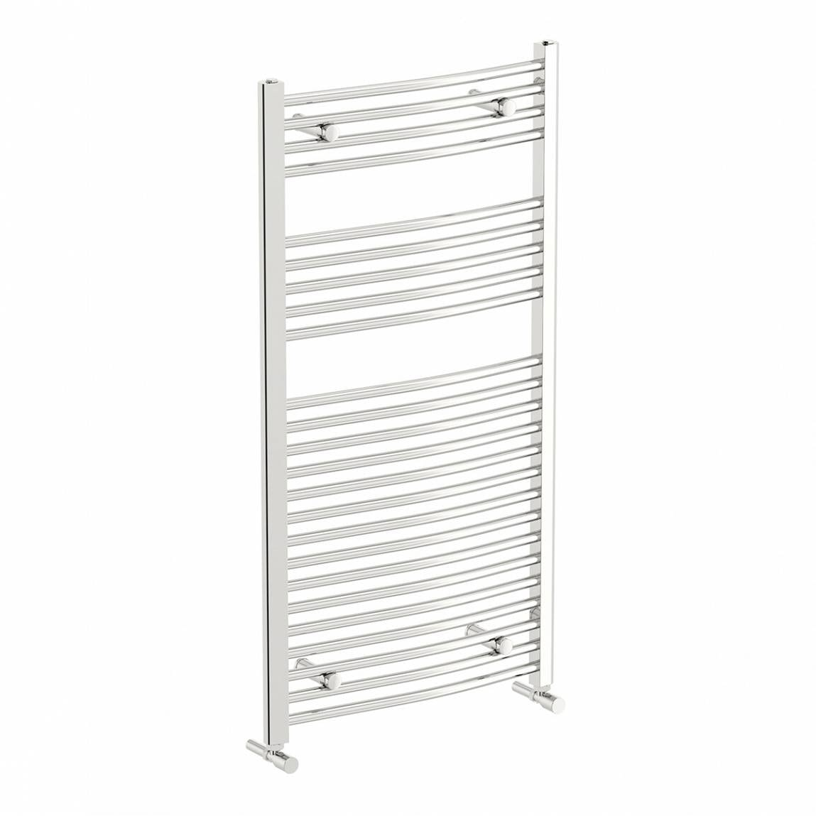 Orchard Curved heated towel rail 1150 x 600