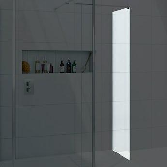 Mode luxury 8mm wet room glass panel 400mm