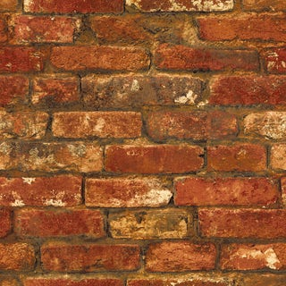 Rustic Brick Sidewall - Red