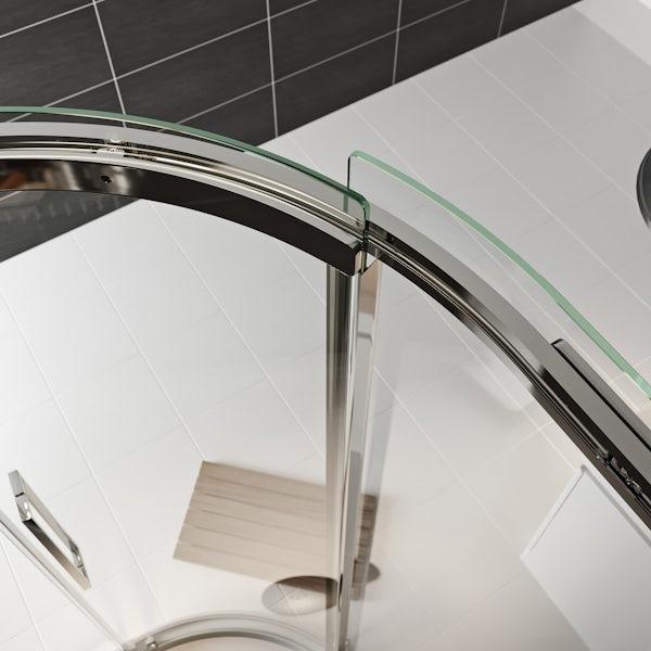 Mode Foster stainless steel left handed offset quadrant shower enclosure 1000 x 800