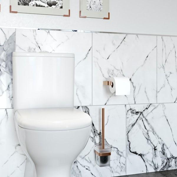 Mode Spencer rose gold toilet roll holder