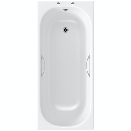 Clarity single ended steel bath with handle grips