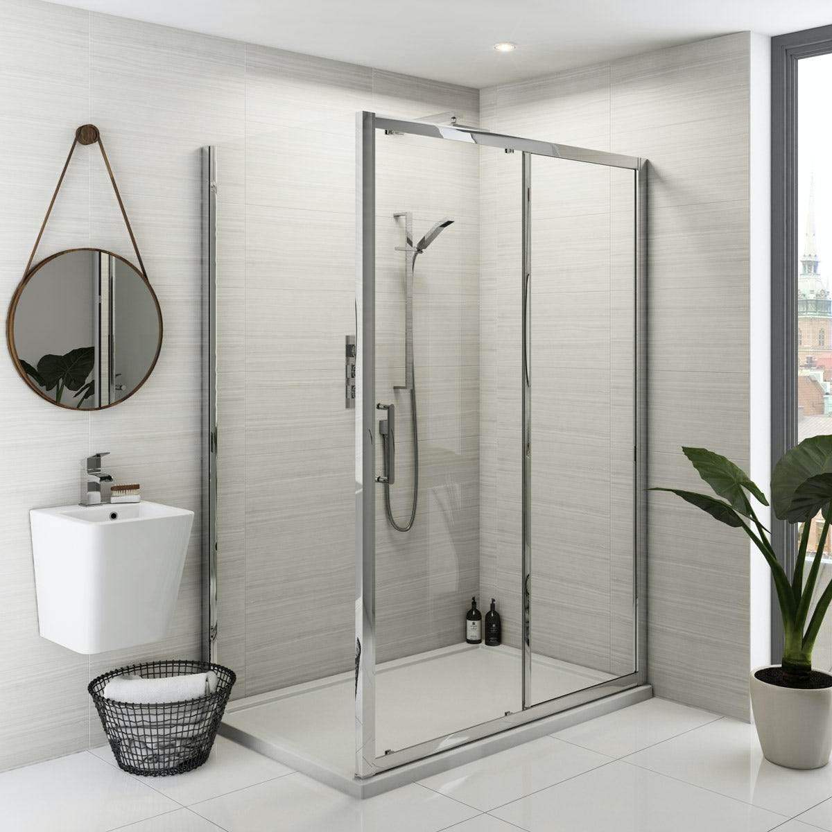 Mode Ellis Storm Bathroom Suite With Shower Enclosure 1200
