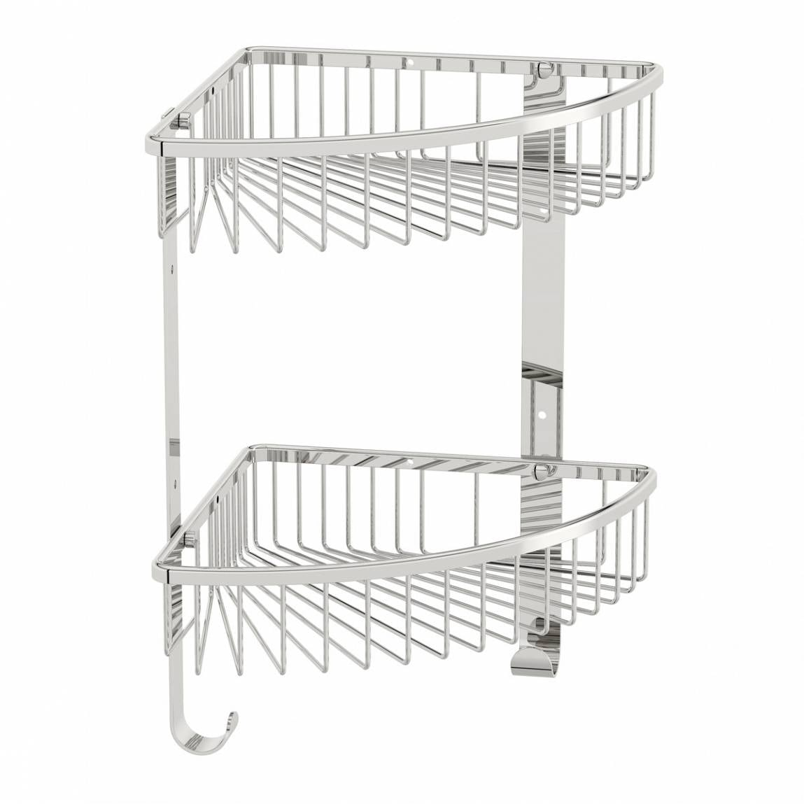 Orchard Options brass double triangular shower caddy