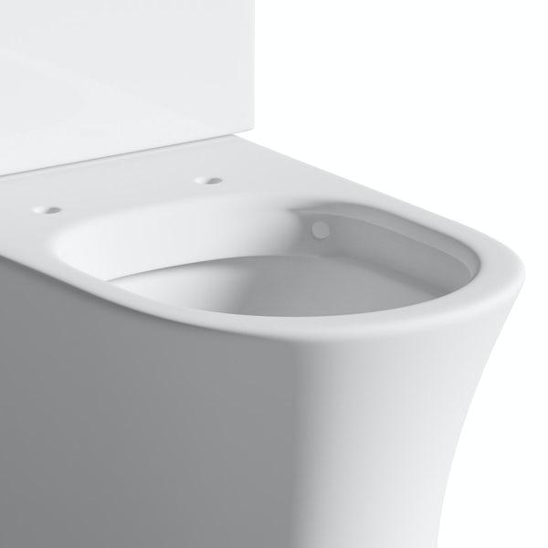 Mode Harrison rimless close coupled toilet inc slimline soft close seat