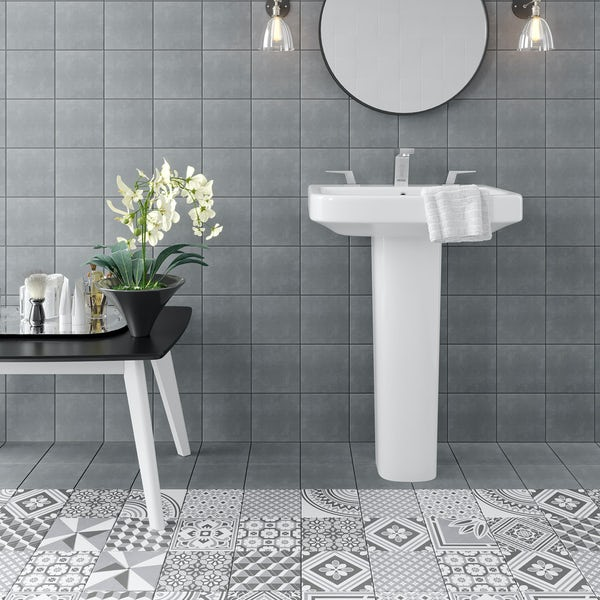 Ted Baker VersaTile dark grey wall and floor tile 148mm x 148mm