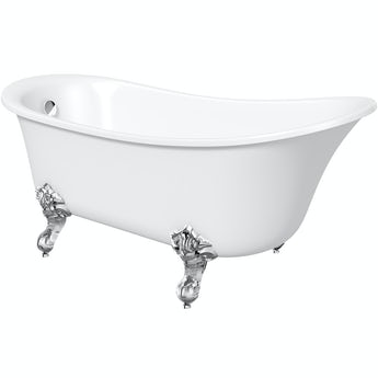 The Bath Co. Camberley freestanding slipper bath with ball feet 1520 X 770 offer pack