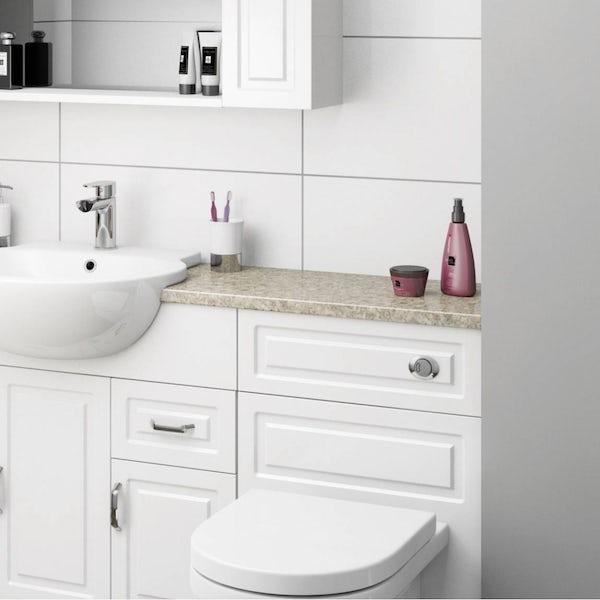 Orchard taurus beige vanity unit countertop 337 x 1800