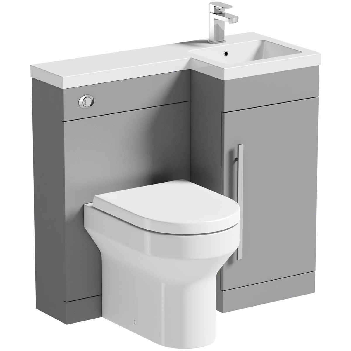 Orchard MySpace grey right handed combination unit with Wharfe toilet