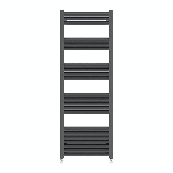 Carter anthracite heated towel rail 1400 x 500