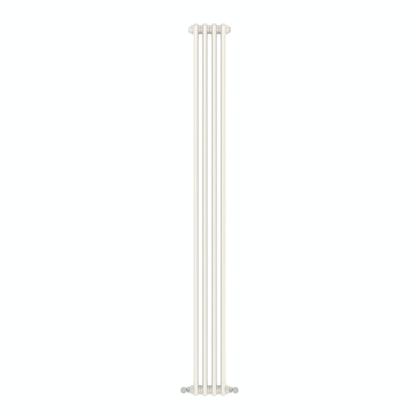 Dulwich vertical white double column radiator 1800 x 198
