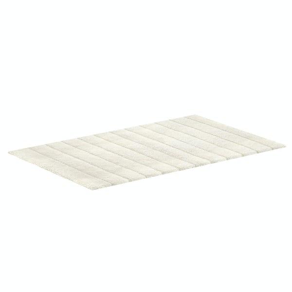 Hug Rug luxury bamboo stripe cream bathroom mat 50 x 80cm
