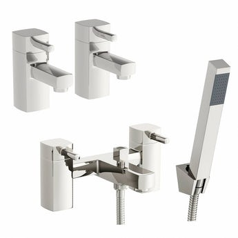 Osca basin tap and bath shower mixer tap pack