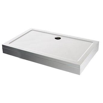 Rectangular Stone Shower Tray & Riser Kit 1000 x 800