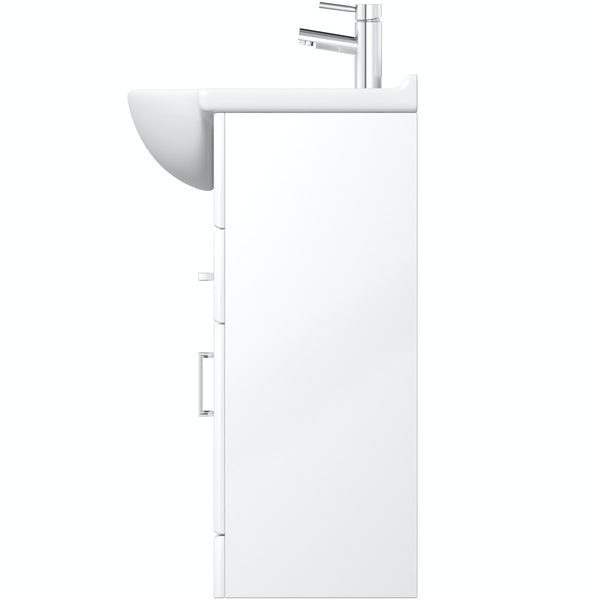 Eden white vanity unit and basin 1200mm