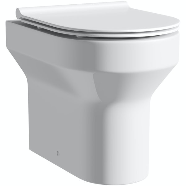 Oakley back to wall toilet with soft close slim seat and concealed cistern