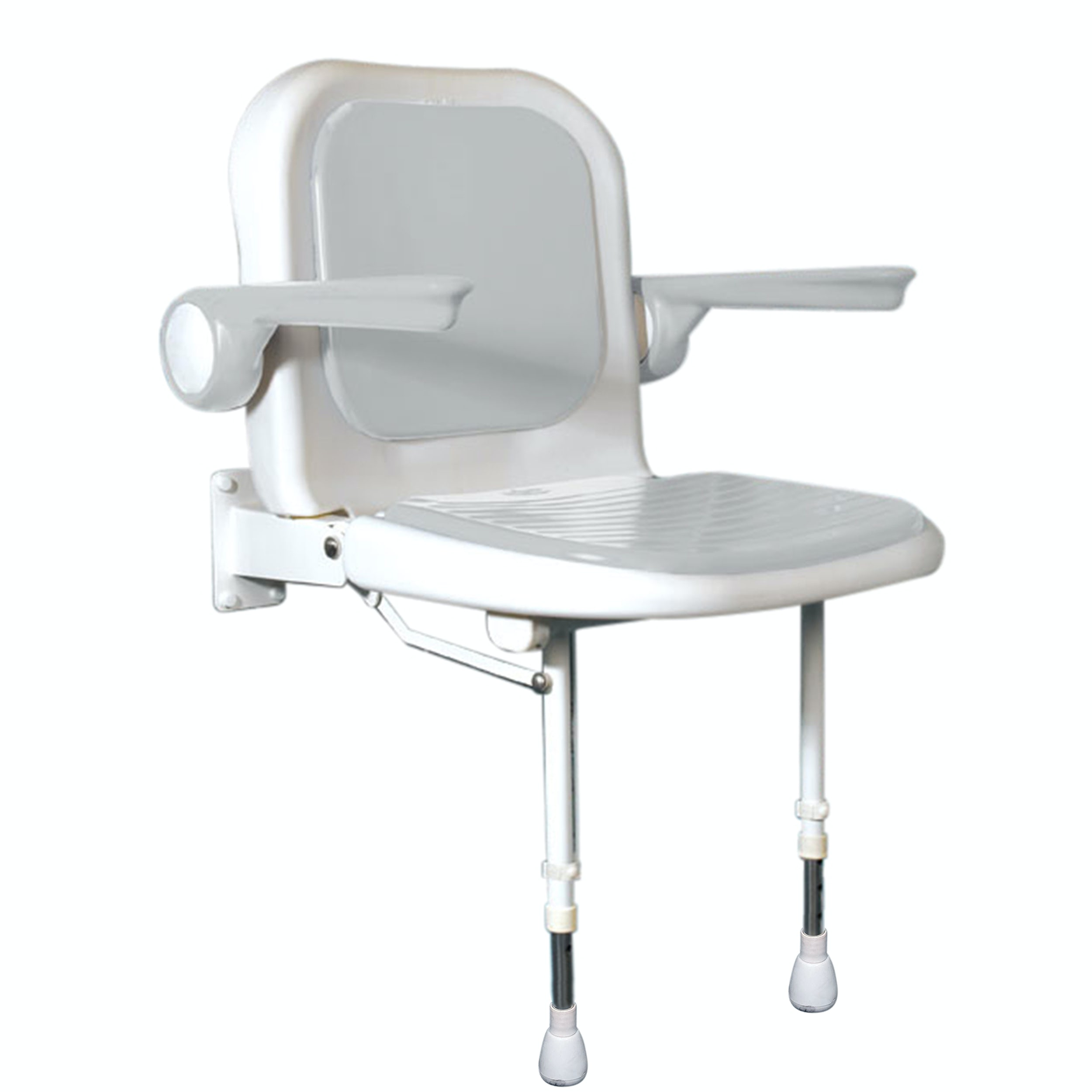 AKW Advanced folding shower seat with moulded seat and full padding grey - Sold by Victoria Plum