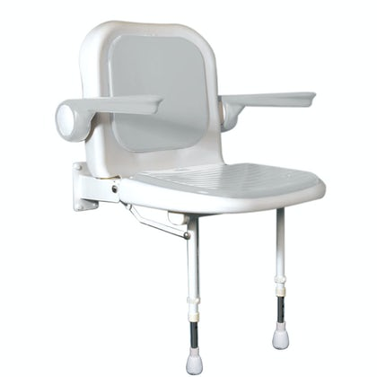 AKW Advanced folding shower seat with moulded seat and full padding grey