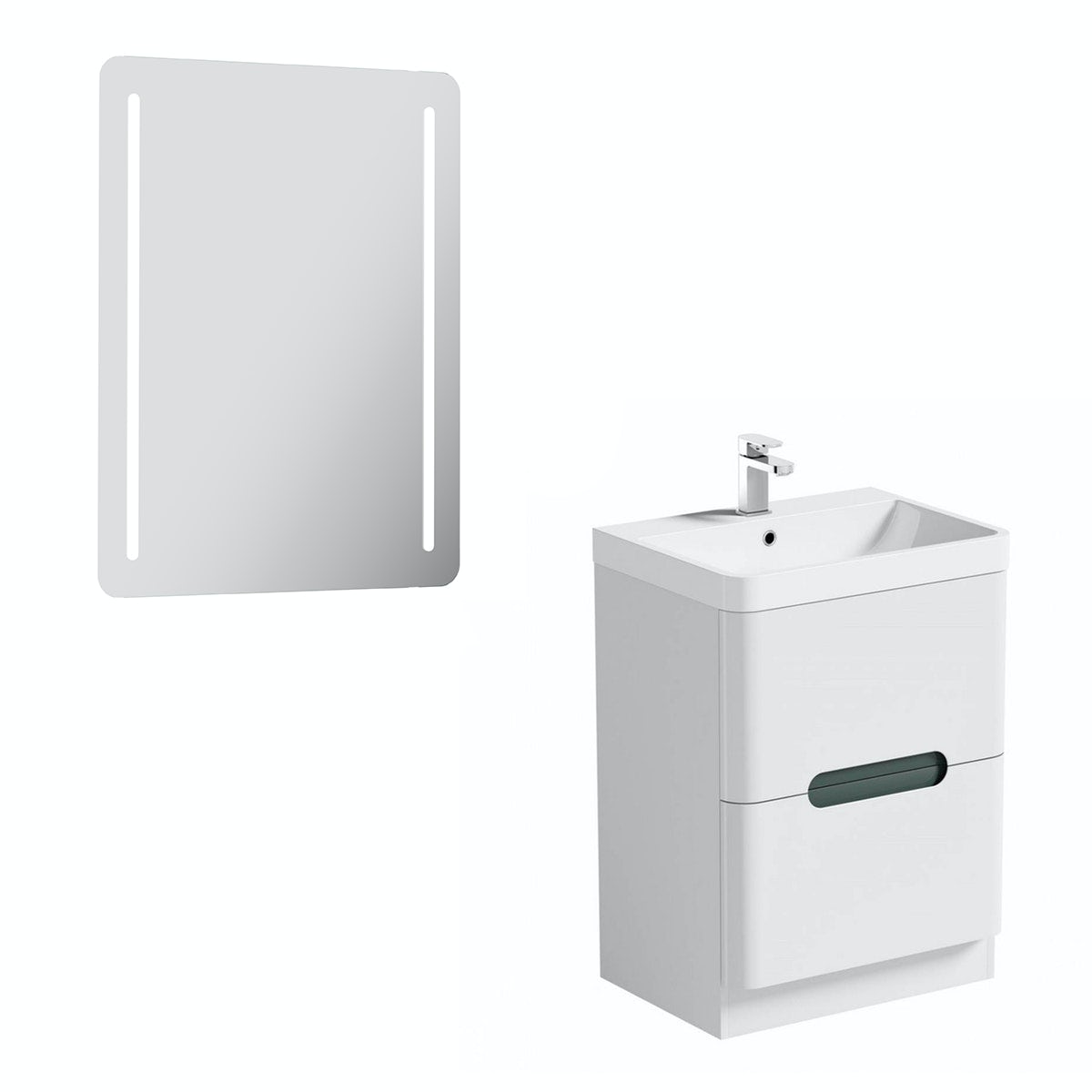Mode Ellis slate vanity unit 600mm and mirror offer