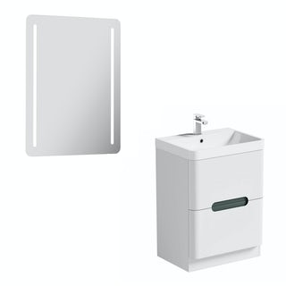 Mode Ellis slate vanity unit 600mm and mirror offer