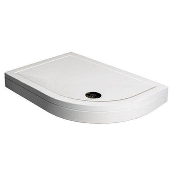 Offset Quadrant Stone Shower Tray & Riser Kit 1200 x 800 RH