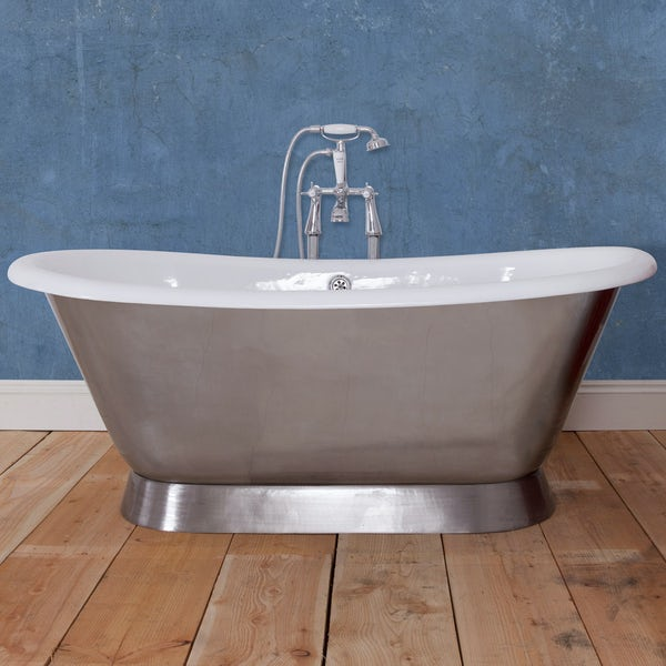 The Bath Co. Stirling polised cast iron bath | VictoriaPlum.com