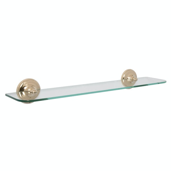 Croydex Grosvenor gold glass shelf