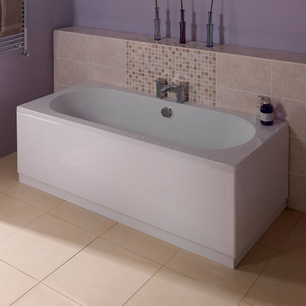 orchard white wooden straight bath front panel 1700mm. Black Bedroom Furniture Sets. Home Design Ideas