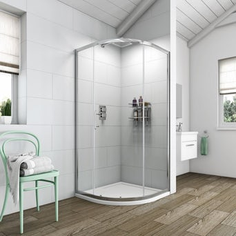 Simplicity 6mm One Door Quadrant Shower Enclosure 800