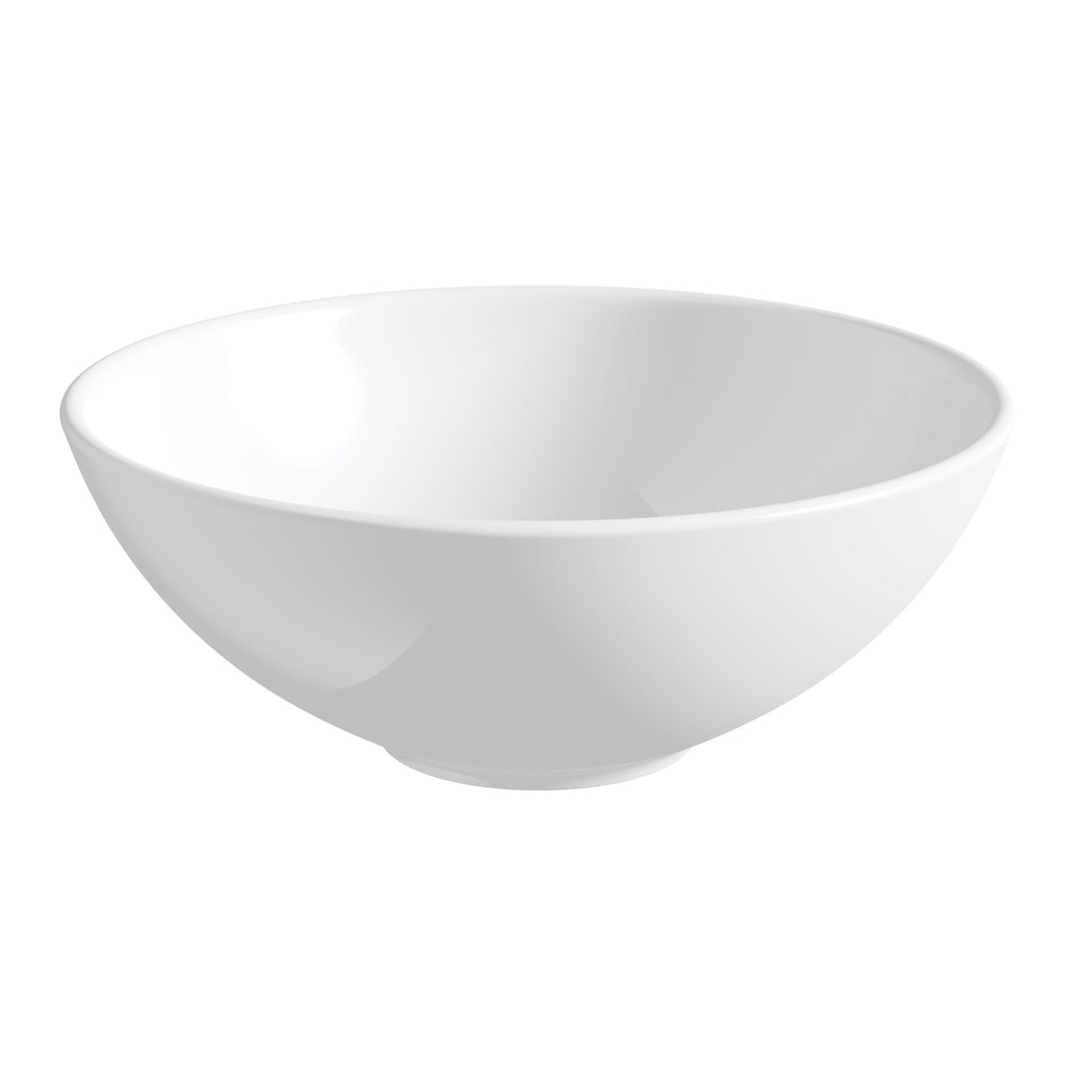 Orchard Derwent round countertop basin 405mm with waste