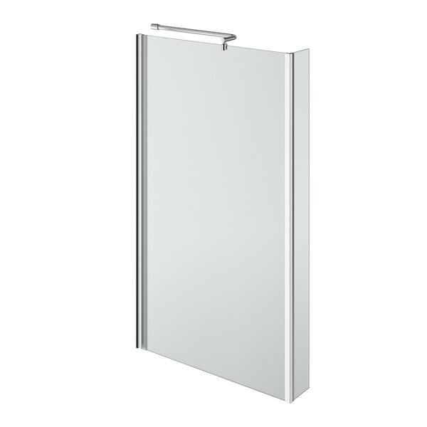 5mm L shaped shower bath screen