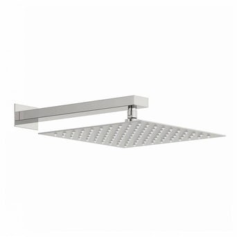 Incus 300mm Shower Head & Rectangular Wall Arm