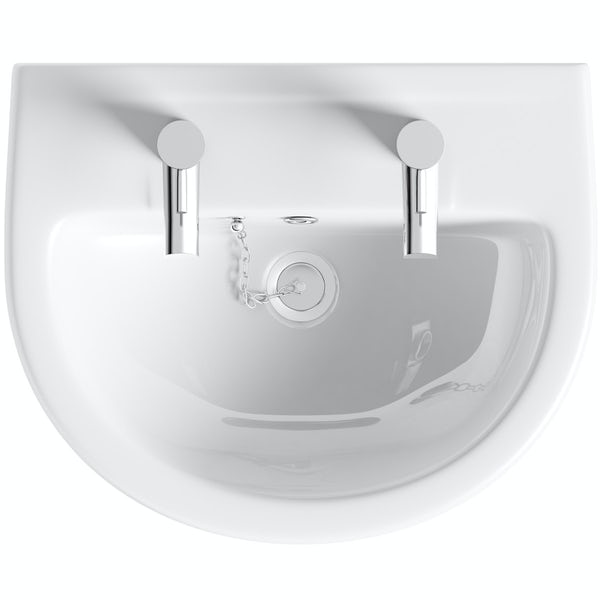 Oakley 550 2TH Basin & Semi Pedestal