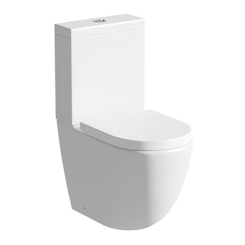Mode Harrison rimless close coupled toilet inc soft close seat with pan connector