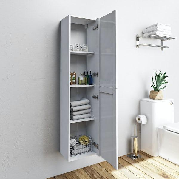 Mode Ellis slate wall hung cabinet