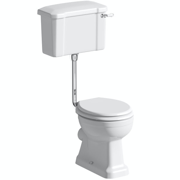 Camberley Low Level Toilet inc Luxury White Soft Close Seat