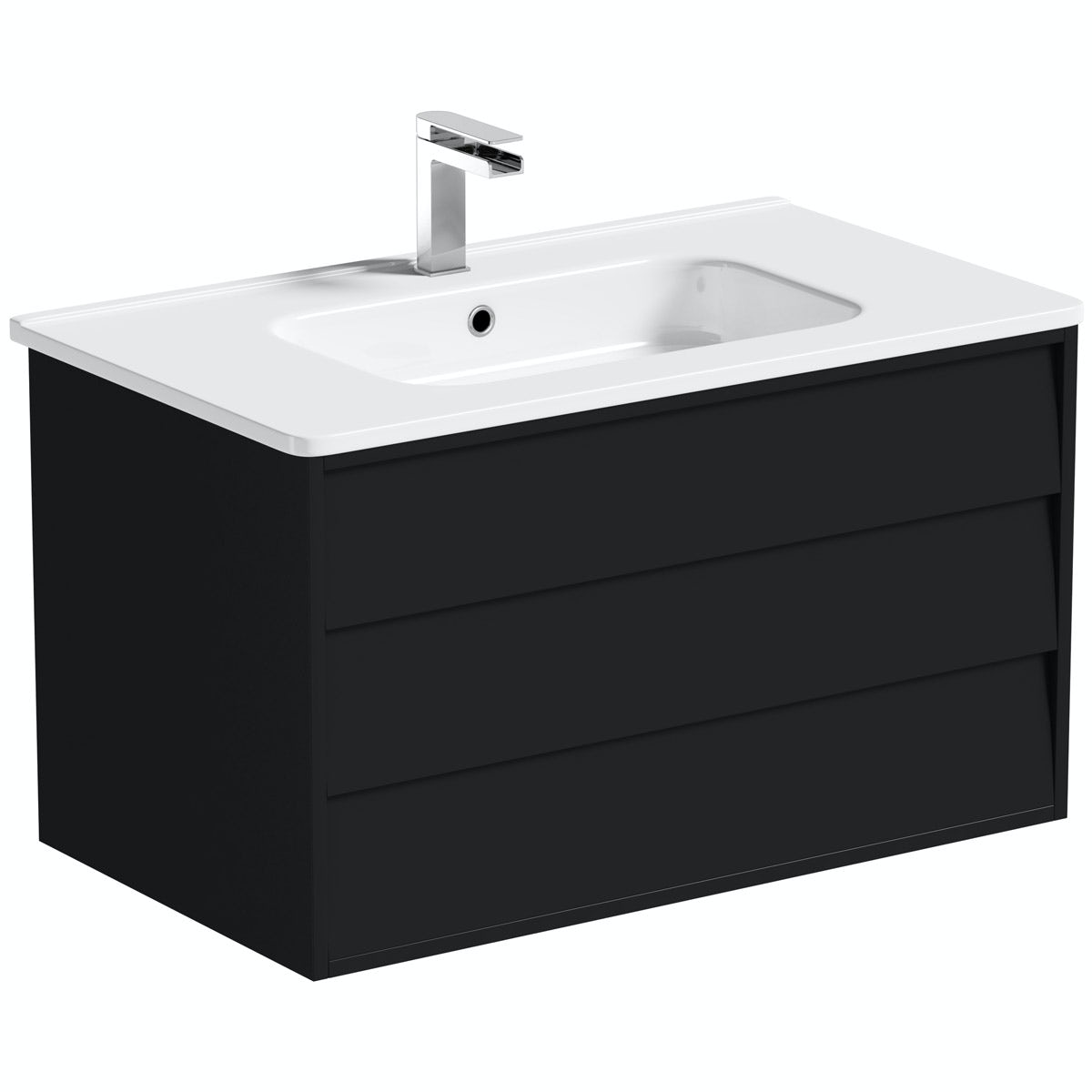 Mode Cooper anthracite wall hung vanity unit and basin 800mm