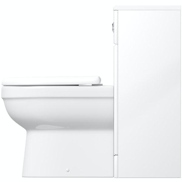 Eden white slimline back to wall unit with Energy toilet