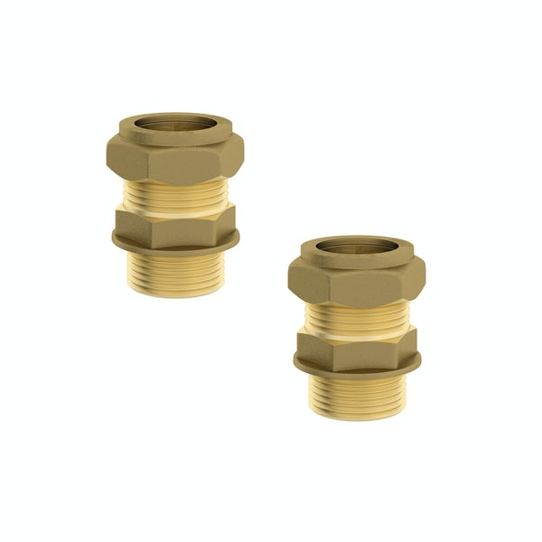 """Straight male connectors 3/4"""" x 22mm (2 pack)"""