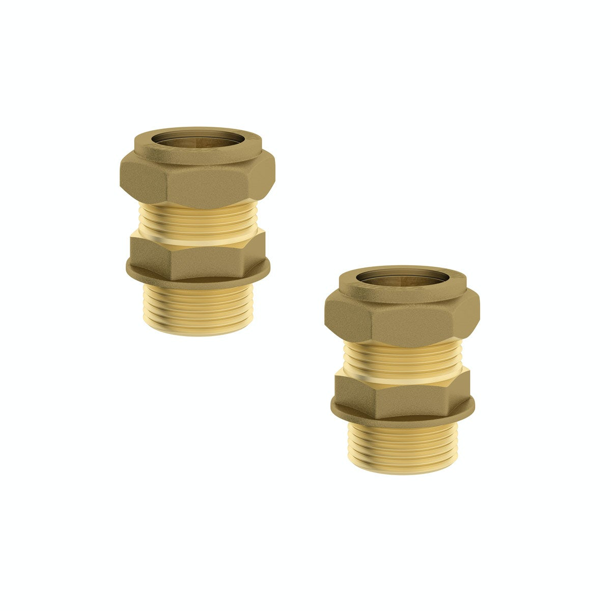 "Straight male connectors 3/4"" x 22mm (2 Pack)"