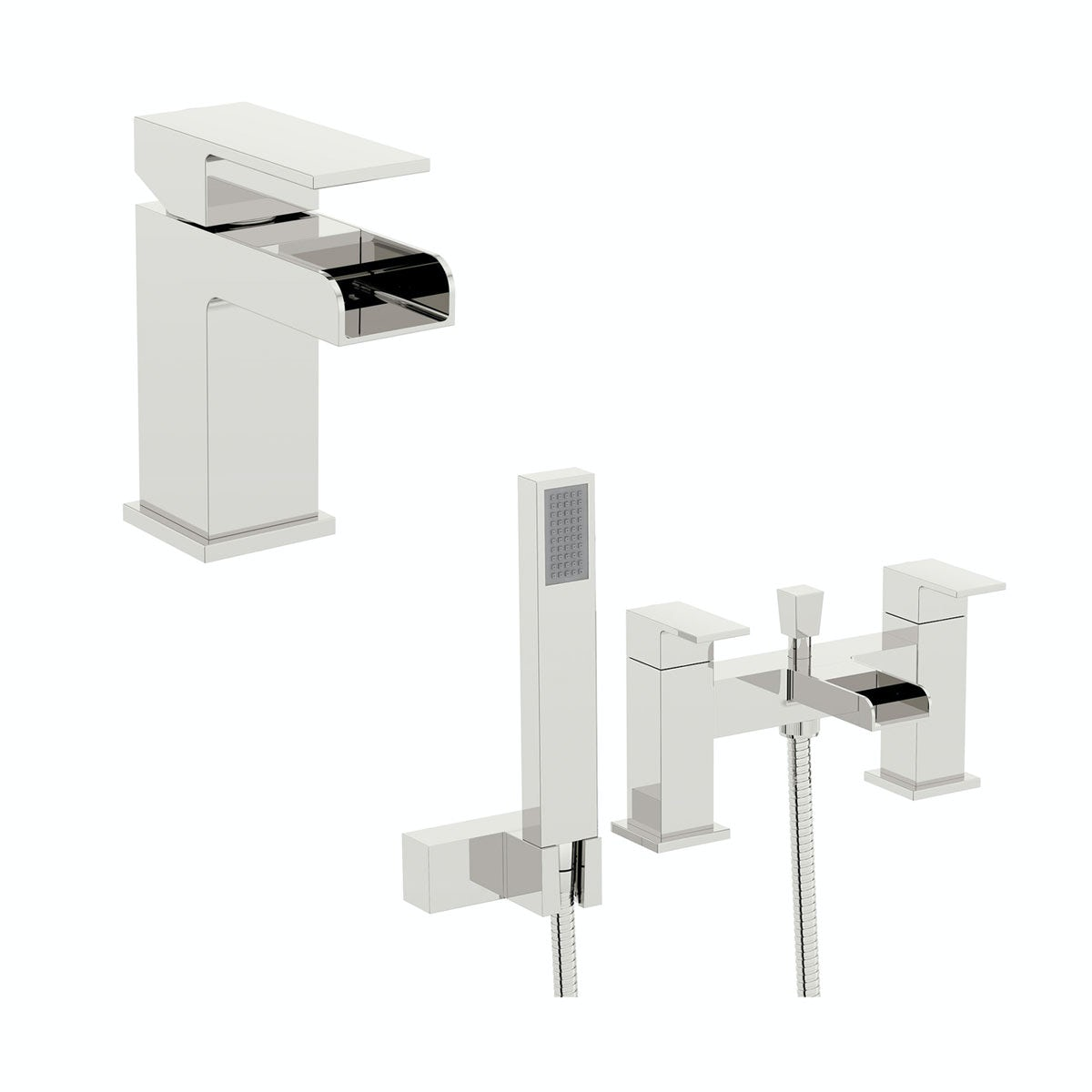 Orchard Derwent waterfall basin and bath shower mixer pack